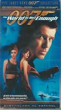 *SEALED* James Bond 007 The World Is Not Enough VHS Tape 2000 Spanish Subtitled