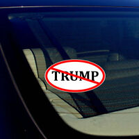 "Anti Trump No Trump Auto Window Bumper Vinyl Decal Sticker 4"" Inches"