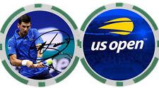 Novak Djokovic - US OPEN - POKER CHIP - BALL MARKER *SIGNED*