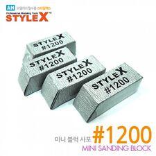 STYLE X- Mini Sanding Block #1200 (4pcs)DT-375 NIB Plastic Model Hobby Military