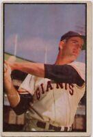 1953 Bowman #74 Don Mueller VG-VG Crease New York Giants FREE SHIPPING