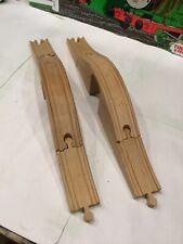 TWO (3 pcs)Thomas the Train Wooden ARCHED BRIDGES