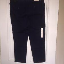 Gap Cotton Navy Ladies Capri Khaki Skinny Stretch Trousers Size 16 BNWT