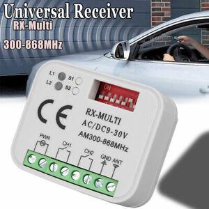 300-868Mhz Universel Récepteur Télécommande Porte Garage Portail Plastique