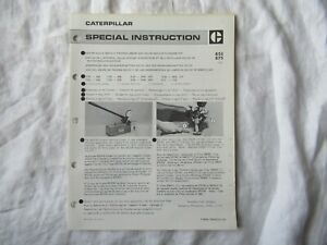 Caterpillar 8S2242 nozzle testing cleaning kit tools service instruction manual