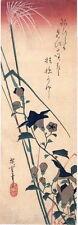Hiroshige, Botanical. Bellflowers & Miscanthus, Asian style 1988 print