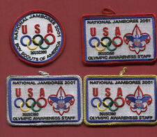 2001 Jamboree - Olympic Awareness Park Patch Set -  4 Patches - -
