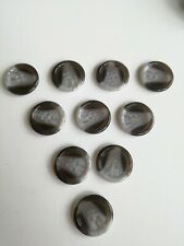 Large Black And Grey Marbled Buttons