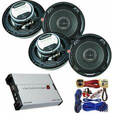 (4) Kenwood KFC-D161  320W 6.5� 3-Way Speaker + XED7600.4 600W 4-CH Amp + Kit