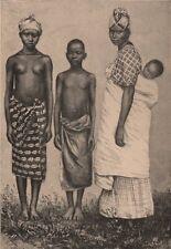 Women and Children of Porto Grande. Brazil or São Vicente, Cape Verde? 1885