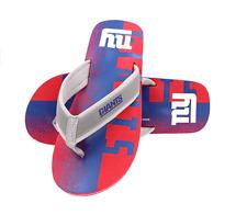 FOCO NFL Men's New York Giants Contour Fade Wordmark Thong Sandals