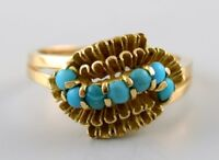 Art Deco ring of 18 kt. gold with turquoise. Sweden 1930/40s.