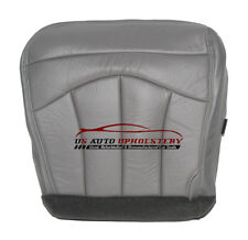 2000 Ford F-150 Lariat Super-Cab F150 Passenger Bottom Leather Seat Cover GRAY