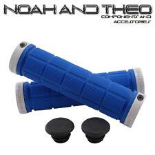 Noah and theo DOBLE Acopla bicicleta de montaña apretones manillar Azul Blanco