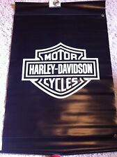"Harley-Davidson NOS Black & White Bar & Shield Outdoor Banner  48"" x 30"""