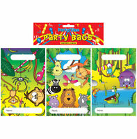 12 Jungle Empty Party Bags - Toy Loot Gift Wedding/Kids Animal Plastic Clear