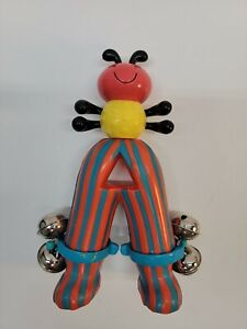 """RARE=VTG=PARENTS=""""BATTAT""""-BABY/TODDLER'S RATTLE=INSECT-ANT-CENTAPIED=8""""T X 5.5""""W"""