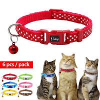 6pcs/Lot Adjustable Nylon Cute Small Puppy Kitten Pet Cat Dog Collars Dot Print