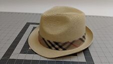 Mens Hat Trilby Fedora XL XLarge Straw colored