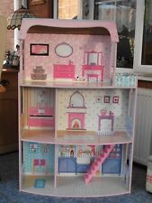 Wooden Dolls House 3 Storey & Side Balcony 45 inches high