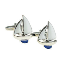 Quilla Azul Yate Vela Marineros Gemelos presentado en una Caja De Gemelos-X2NYU009