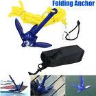Portable Folding Anchor Canoe Kayak Raft Boat Sailboat Fishing Tool With 5M Rope