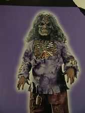 Boy's Zombie Halloween Dress-Up Costume Top and Mask Only Medium 8-10 #1545