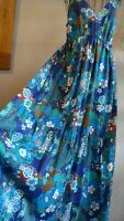 KARMA EAST 💖💖 Floral Cotton Dress Tiered Skirt Size 12 14 16 Oriental Print