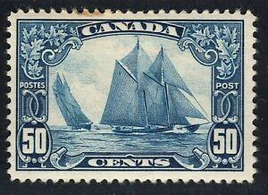 King George V Scroll Issue Scott's # 158 50 cent dark blue  MH CV $350.00 US