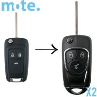2 x To Suit Holden Barina/Cruze/Trax 3 Button Remote Flip Key Blank Shell/Case