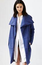NEW UO One Teaspoon denim blue Oversized Cozy Collar Open Front Filled Coat S