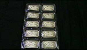 10 Ten 1 Ounce Silver Bars In Mint State Packaging From Silvertowne