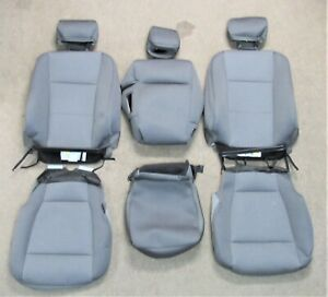 2015 - 2020 ORIGINAL FORD F150 TAKE OFF FRONT GRAY CLOTH SEAT UPHOLSTERY