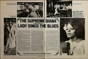 Diana Ross the Supreme Diana Lady Sings the Blues Vintage Film Star Article 1973