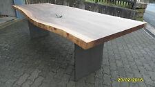 Nußbaum Esstisch Baumkante  Stahlwangen Platte 50mm voll massiv 200 x ca. 90 cm