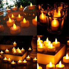 24pc Flameless LED Tea Light Candles Tealights Fake Candles Home Decoration Sale