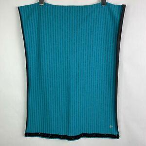 Ivivva by Lululemon Snap Cowl Neck Stripe Blue Grey One Size Scarf Girls Stretch