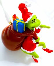"New! Dr. Seuss ""How the Grinch Stole Christmas"" Ornament Santa Hat Present Sack"