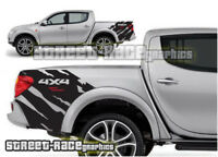 Mitsubishi L200 016 shredded grunge rally stickers decals graphics rear tub side