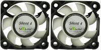 2 x Pack of Gelid Solutions Silent 4 40mm Case Fans 4200 RPM, 4.5 CFM, 18.9 dBA