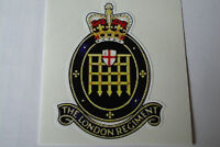 """2 X  THE LONDON REGIMENT  STICKERS  4"""" BRITISH ARMY USA  MILITARY INSIGNIA"""