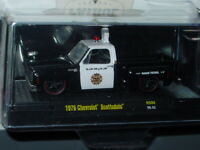 M2 MACHINES 1976 76 CHEVROLET SQUAREBODY POLICE DEPT TRUCK -Black & White, MIP