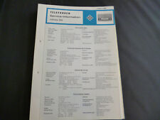 Original Service Manual  Telefunken Jubilate 205