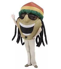 New Jamaican Rasta Head inflatable mascot costume one size
