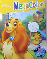 Disney Motive * Malbuch * 128 Motive * DIN A4*Megacolor + Sticker * Neu (Susi)