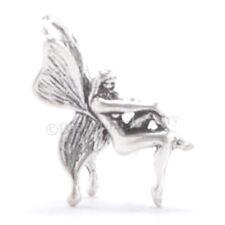 3D BUTTERFLY WINGS FAIRY Pixie Bracelet 925 Charm Pendant STERLING SILVER Small