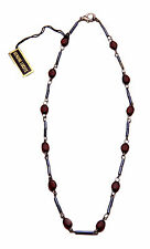 LADIES DARK GUN METAL/RED LUCITE INFUSED STONE CHOKER MYSTERIOUS LOOK(ZX11)