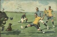 Continental Tires Hannover Germany Soccer Football Game c1920 Postcard G19