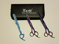 "Student Cutting & Thinning Shears Scissors Set 6.99"" Japanese Steel Case & Razor"