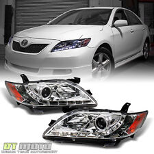 2007-2009 Toyota Camry LED Daytime DRL Projector Headlights Headlamps Left+Right